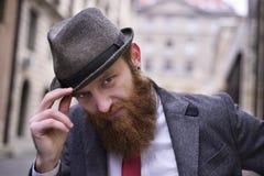 Stylish Bearded Man Stock Image