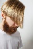Stylish bearded man Stock Images