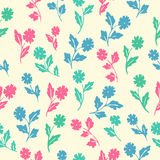 Stylish beautiful  flower set simless patter Royalty Free Stock Photo
