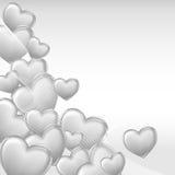 Stylish beautiful valentine day heart background Stock Images