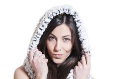 Stylish beautiful woman isolated Stock Images