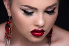 Stylish beauty close-up portrait Stock Photography