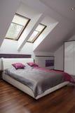 Stylish bed Royalty Free Stock Photo