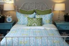 Stylish bedroom decor. Stylish bedroom furniture and contemporary decor Stock Photo
