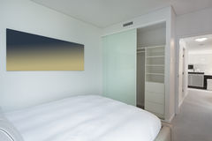 Bedroom in apartment Stock Image