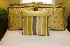 Stylish bedroom pillows. Royalty Free Stock Image