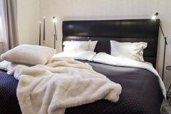 Stylish bedroom Royalty Free Stock Photos