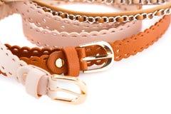 Stylish belts Stock Photos
