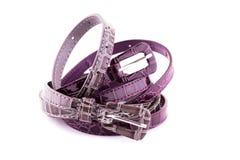Stylish belts Royalty Free Stock Photography