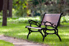 Stylish bench in park Stock Photography