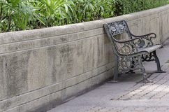 Stylish bench in summer park. Stylish bench in summer public park Stock Photography