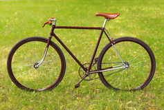 Stylish bicycle on grass Stock Photography
