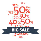 Stylish Big Sale poster, banner or flyer design with discount offer on new arrivals. Stock Photo