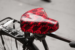 Stylish bike saddle Royalty Free Stock Photos
