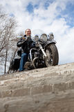 Stylish biker Royalty Free Stock Photos