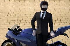 Stylish biker closeup Royalty Free Stock Images