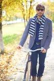Stylish biker Royalty Free Stock Image