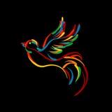 Stylish bird icon Royalty Free Stock Image