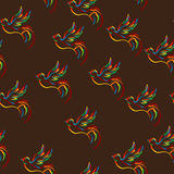 Stylish bird pattern Royalty Free Stock Photo