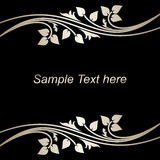 Stylish black Background with silver Borders. Royalty Free Stock Images