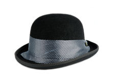 Stylish black bowler Royalty Free Stock Images
