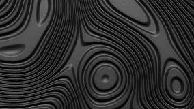 Stylish black colored background with flowing lines. Abstract topographic map contour background. Black stripe pattern. Background. Smoothly illuminated plastic vector illustration