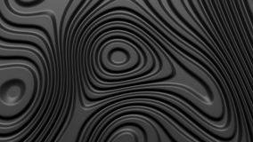 Stylish black colored background with flowing lines. Abstract topographic map contour background. Black stripe pattern background. Smoothly illuminated plastic Royalty Free Stock Photography