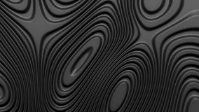 Stylish black colored background with flowing lines. Abstract topographic map contour background. Black stripe pattern background. Smoothly illuminated plastic vector illustration