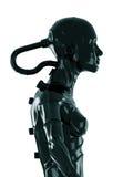 Stylish black cyborg royalty free illustration