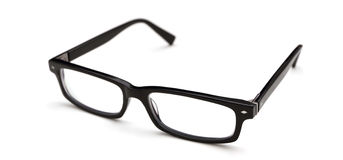 Stylish black glasses Stock Image