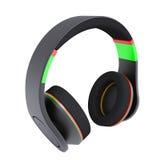 Stylish black headphones. Isolated render on a white background Royalty Free Stock Photography