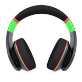 Stylish black headphones Stock Images