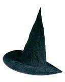 Stylish black party hat. Shot over white background Royalty Free Stock Photos