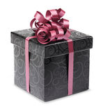 Stylish Black Present Box Royalty Free Stock Images