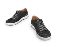 Stylish black sneakers Stock Images