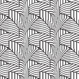 Stylish Black And White Geometric Graphic Pattern Royalty Free Stock Photo