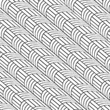 Stylish Black And White Line Curve Graphic Pattern. Vector Illustration Stock Images