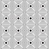 Stylish Black And White Monochrome Geometric Graphic Pattern Royalty Free Stock Image