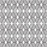 Stylish Black And White Monochrome Geometric Graphic Pattern Vec Royalty Free Stock Images