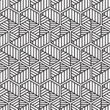 Stylish Black And White Monochrome Geometric Graphic Pattern Royalty Free Stock Photo