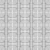 Stylish Black And White Monochrome Geometric Graphic Pattern Royalty Free Stock Photography