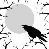 Stylish black and white template for Halloween Stock Image