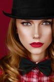 Stylish blonde girl. Royalty Free Stock Images