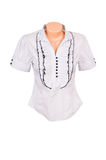 Stylish blouse  on a white. Royalty Free Stock Photos
