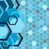 Stylish blue banner Stock Images