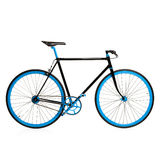 Stylish blue bicycle isolated on white Royalty Free Stock Photos