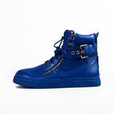 Stylish blue boots Stock Photos
