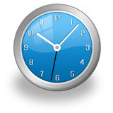 Stylish blue clock Stock Image