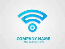 Stylish blue colour business symbol. Royalty Free Stock Images