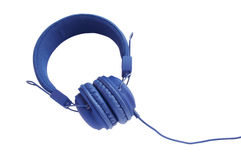 Stylish blue headphones Stock Image